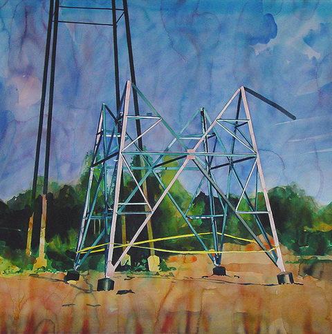 Sans titre, 1.04.02 - Yvan Salomone aquarelle sur papier : 104 x 145 cm, 2002 - Collection Gabrielle et Georges Salomon. 63 ©Musée des Beaux-Arts de Tourcoing