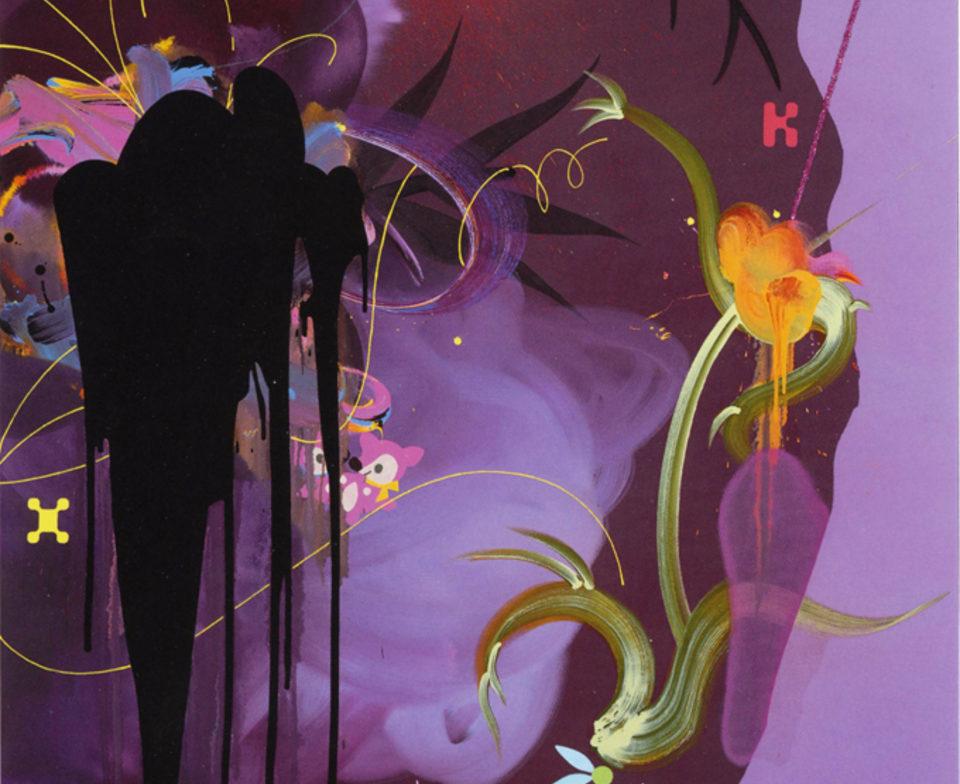 Grotto, Fiona RAE - 2005 Huile acrylique et paillettes sur toile 152 x 127 cm - Collection privée