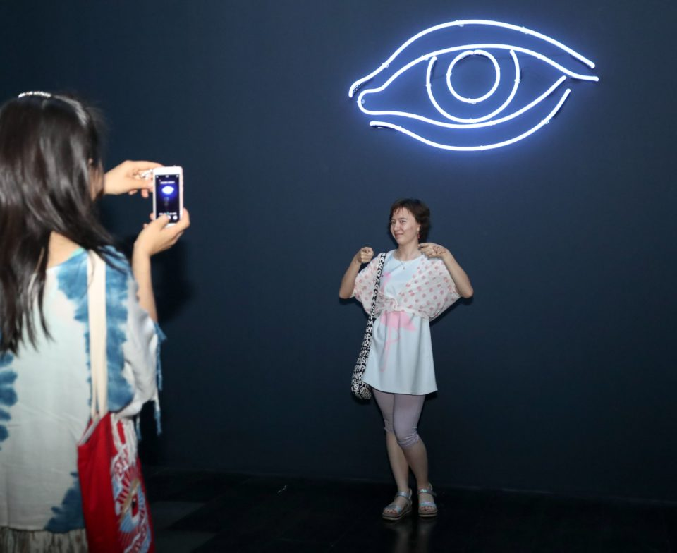 Vue d'exposition Prix Marcel Duchamp - Tsinghua university museum - salle Laurent Grasso
