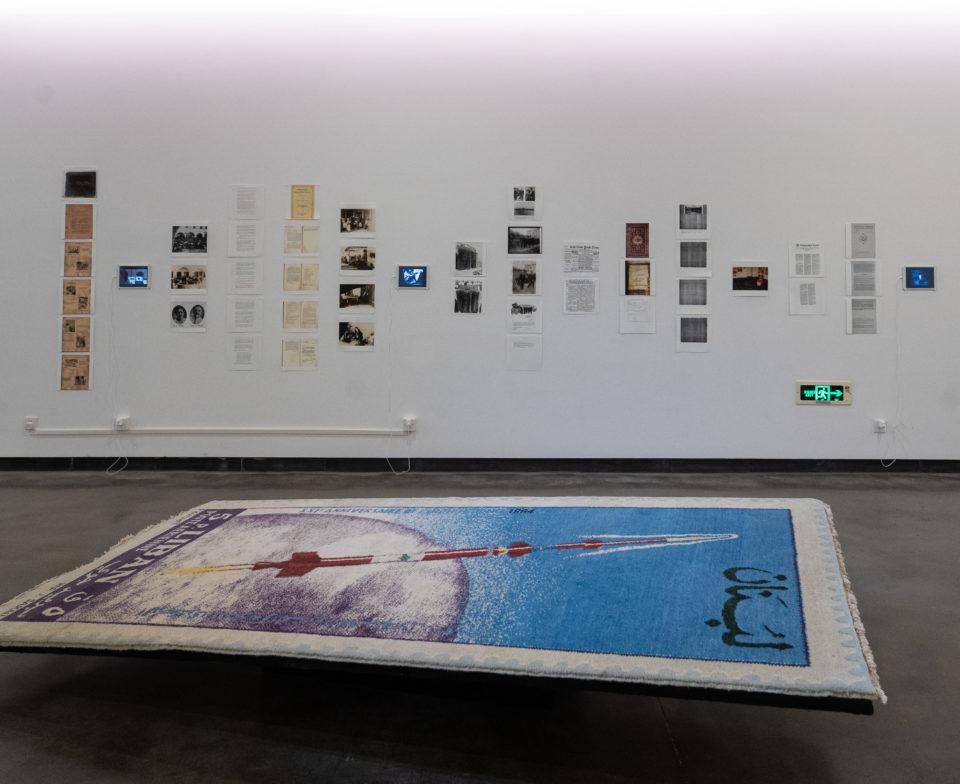 Joana HADJITHOMAS & Khalil JOREIGE The President's Album, 2011 Trente-deux tirages numériques pliés, montés sur bois - 120 x 25 x 10 cm chacun