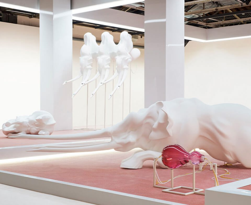 Echo, A matriarch engineered to die, exhibition view, Palais de Tokyo, Paris, 2016