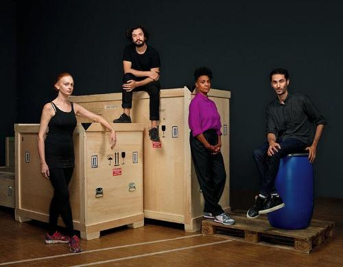 The Nominees Marcel Duchamp Prize 2020 (from the left to the right) Alice Anderson, Enrique Ramirez, Kapwani Kiwanga, Hicham Berrada © Manuel Braun