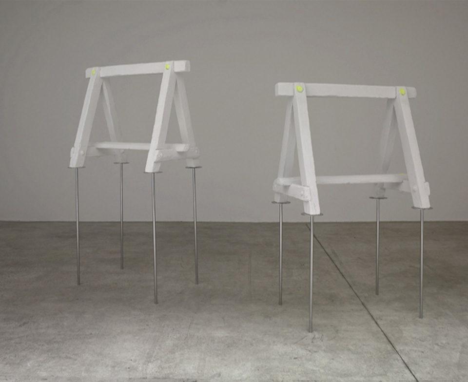 sans titre (tréteaux), 2006