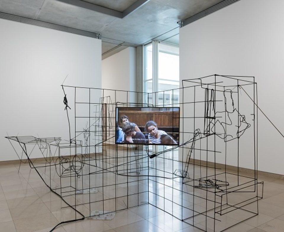 Vue de l'exposition prix Marcel Duchamp au Carré d'Art de Nîmes Courtesy: l'artiste et la Galerie Balice Hertling