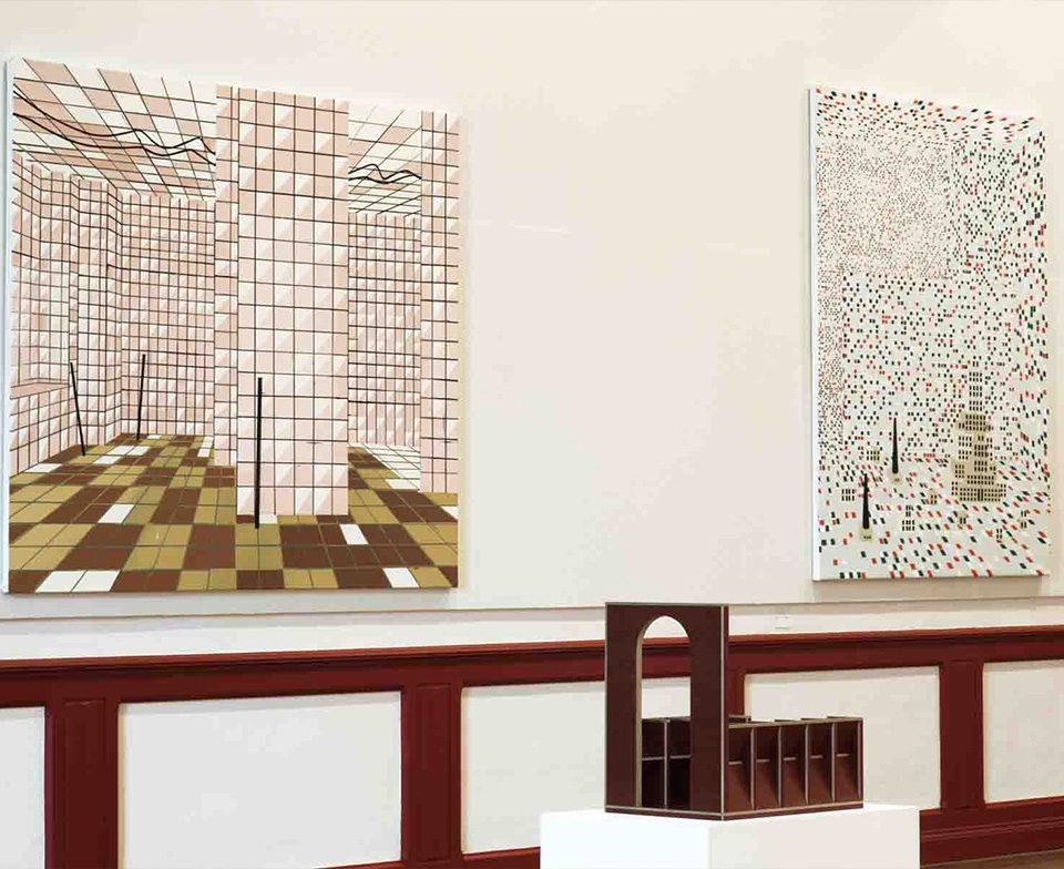 Vue de l'exposition du prix Marcel Duchamp, au musée des Beaux-Arts de Libourne