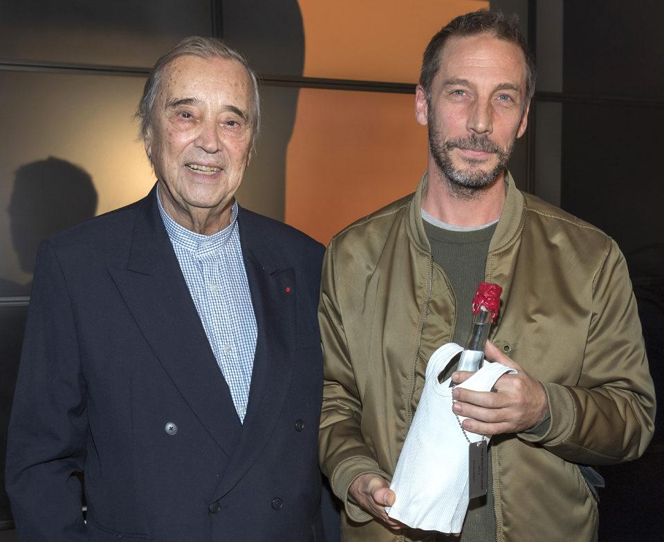 Gilles Fuchs, Président de l'ADIAF et Eric Baudelaire, lauréat 2019