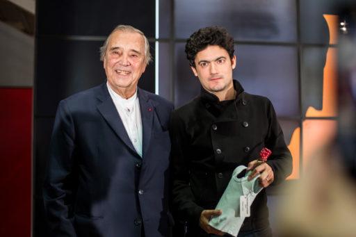Gilles Fuchs, président de l'ADIAF et Clément Cogitore, lauréat 2018