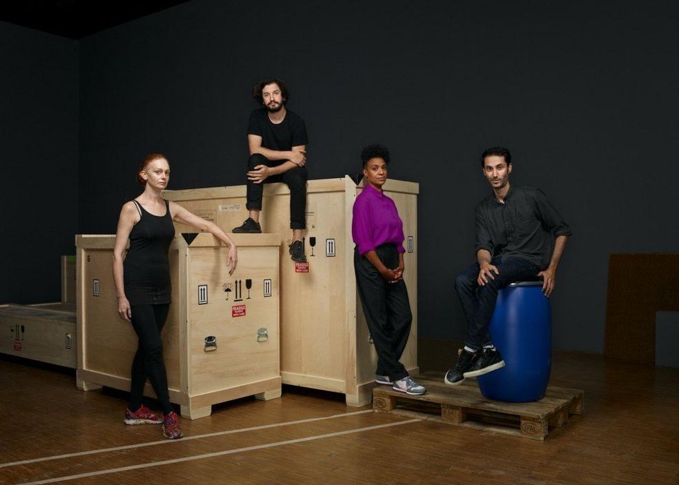 Les nommés du Prix Marcel Duchamp 2020 - de gauche à droite - Alice Anderson, Enrique Ramirez, Kapwani Kiwanga et Hicham Berrada ©Manuel Braun