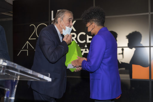 Gilles Fuchs, Président de l'ADIAF et Kapwani Kiwanga, lauréate 2020