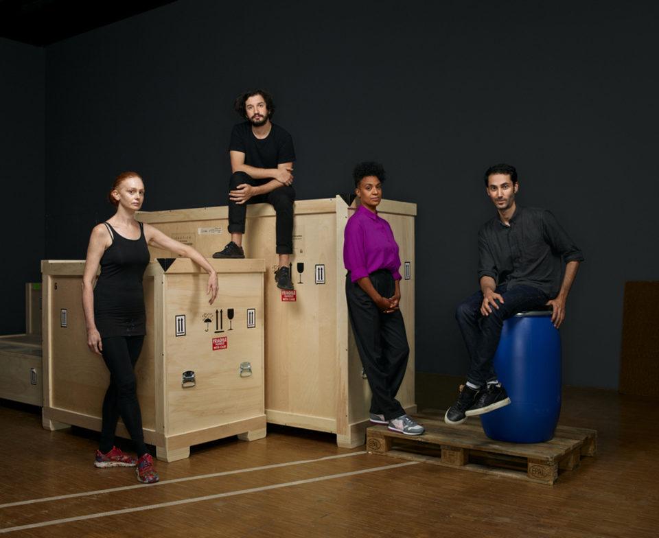 Les nommés Prix Marcel Duchamp 2020 (de gauche à droite) Alice Anderson, Enrique Ramirez, Kapwani Kiwanga et Hicham Berrada © Manuel Braun HD