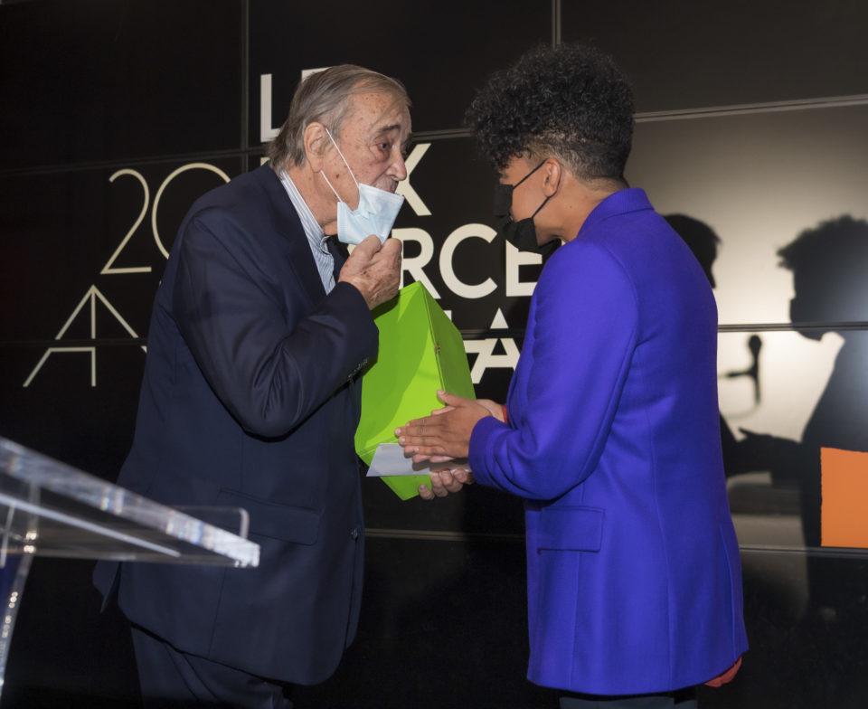 Gilles Fuchs, President of ADIAF and the laureate, Kapwani Kiwanga