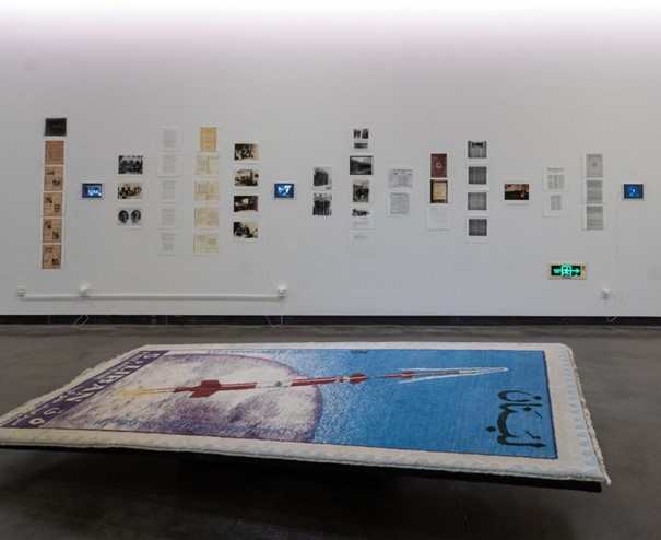 Joana HADJITHOMAS & Khalil JOREIGE, The President's Album, 2011 Thirty-two folded digital prints, mounted on wood - 120 x 25 x 10 cm each