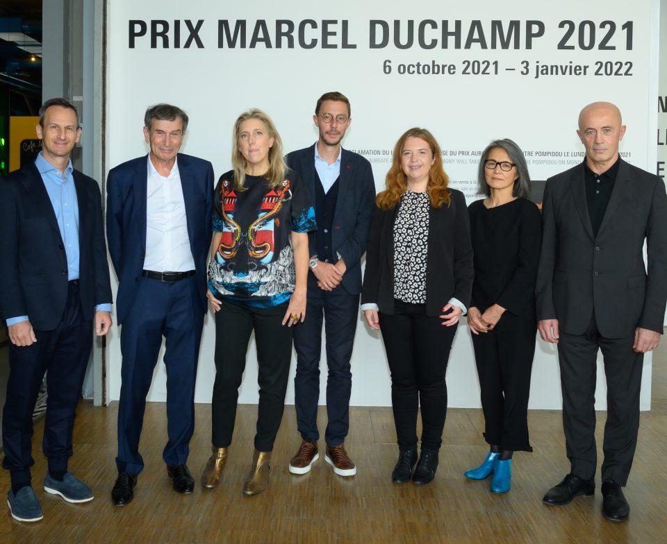 Jury of the Marcel Duchamp Prize 2021 © Luc Castel / Leon Amitai, Claude Bonnin, Emma Lavigne, Xavier Rey, Annabelle Ténèze, Akemi Shiraha,Shalva Breus