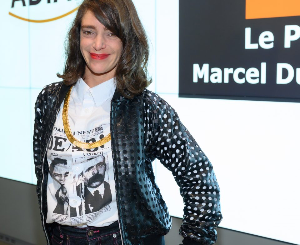 The Laureate of the Marcel Duchamp Prize 2021, Lili Reynaud Dewar. Award ceremony of the Marcel Duchamp Prize 2021 at the Centre Georges Pompidou on 18 October 2021 © Luc Castel
