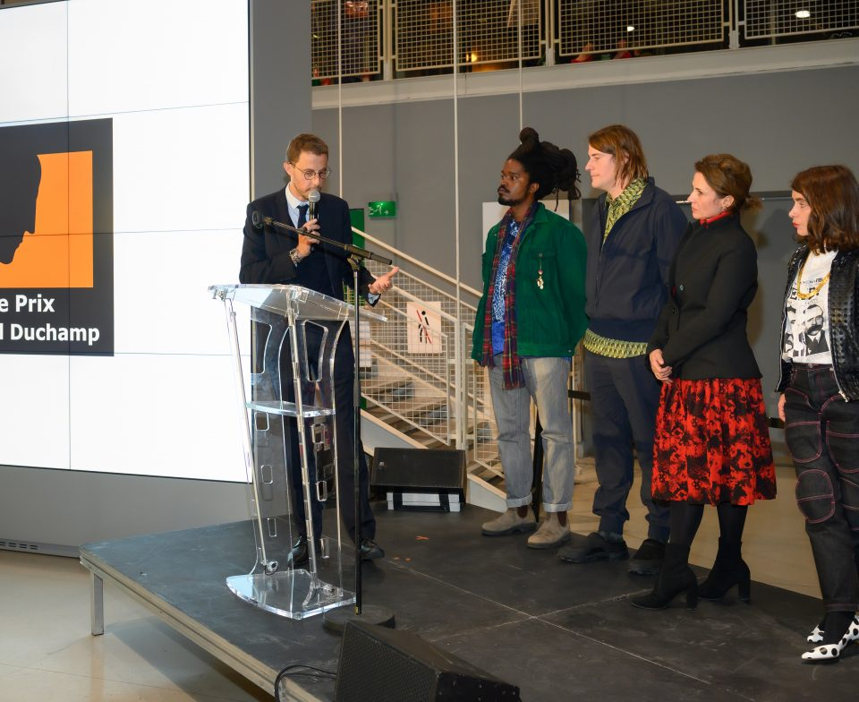 Award ceremony for the Marcel Duchamp Prize 2021 at the Centre Georges Pompidou on 18 October 2021 © Luc Castel